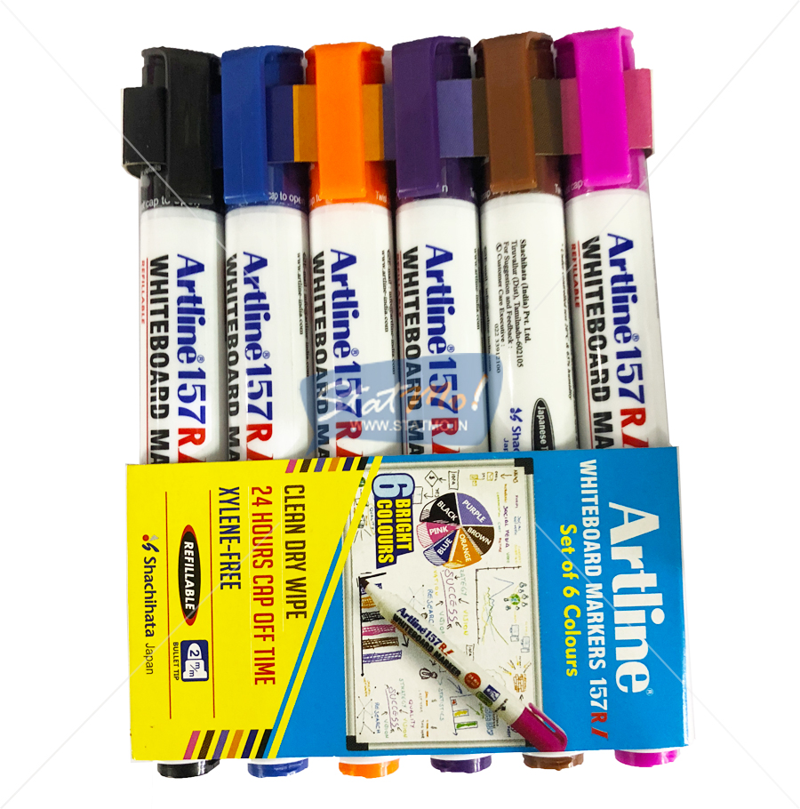 Artline Whiteboard Marker Set of 6 Colours by StatMo.in
