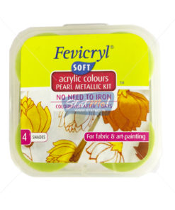 Pidilite Fevicryl Soft Acrylic Colours Pearl Metallic Kit 4 Shades by StatMo.in