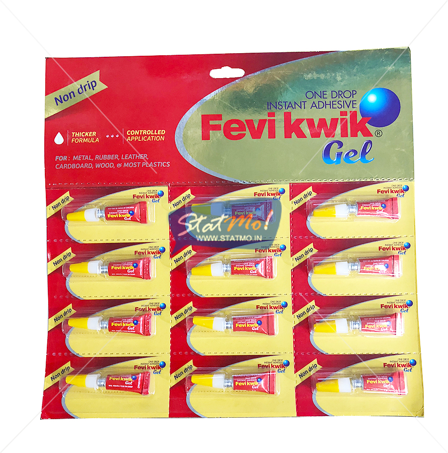 Pidilite Fevikwik Gel Set of 12 by StatMo.in