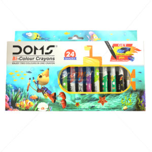 Doms Bi Colour Crayons 24 Shades by StatMo.in