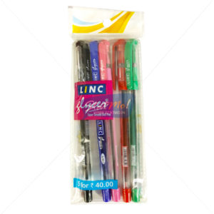 Linc Glycer Ball Pen Set of 5 Assorted Colour by StatMo.in