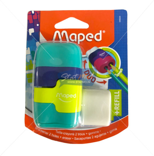 Maped Connect Coloured Duo Eraser and Sharpener by StatMo.in