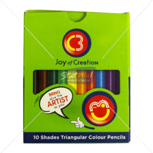 C3 Triangular Colour Pencils 10 Shades by StatMo.in