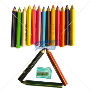 Doms Mega Triangle Colour Pencils 16 Shades by StatMo.in