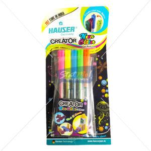 Hauser Creator Neon Glitter Gel Pen by StatMo.in