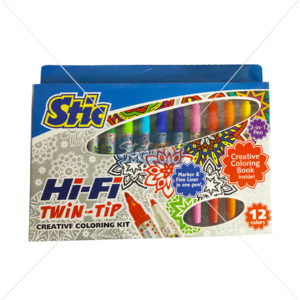 Stic Hi-Fi Twin Tip Creatve Colouring Kit by StatMo.in