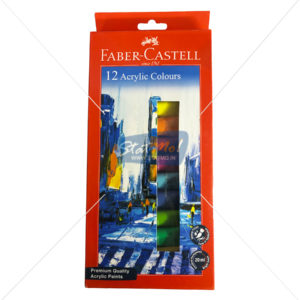 Faber Castell Acrylic Colours 12 Shades by StatMo.in