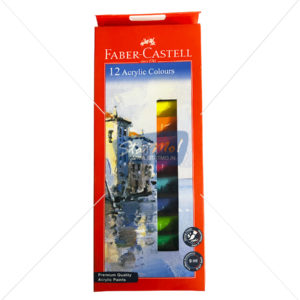 Faber Castell Acrylic Colours 12 Shades 9Ml Tube by StatMo.in