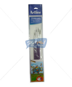 ArtLine 4 Pony Hair Round Brushes by StatMo.in