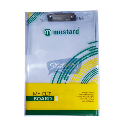 Securex Mustard Exam Clip Board by StatMo.in