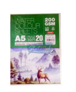 Anupam Water Colour Sheets A5 200GSM StatMo.in